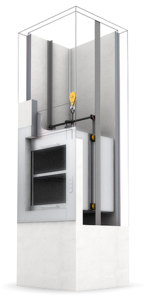 Встроенный лифт подъемник для дачи
